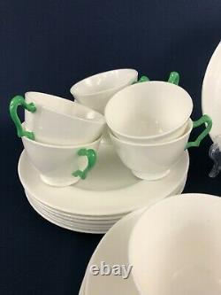 Art Deco Crown Staffordshire fine bone china tea set / service England c. 1930+