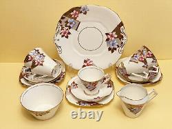 Art Deco Salisbury Brontz English Bone China Tea Set 18 Pieces c1937+