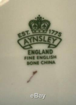 Aynsley Bone China Cobalt Blue & Gold Pedestal Cup & Saucer Set#1215england