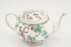 Aynsley England Bone China Indian Tree A1173, Tea Pot, Creamer & Sugar Set