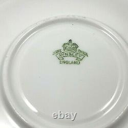 Aynsley England Green Bone China Cup Saucer Set
