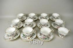 Aynsley England Pembroke China Tea Cup Saucers Reproduction Design Set of 23