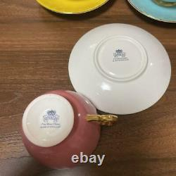 Aynsley Orchard Gold teacup & saucer cup 3 set Fine Bone China ENGLAND