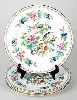 Aynsley Pembroke (Gold Trim) Dinner Plates Set 4 Vintage Fine Bone China England