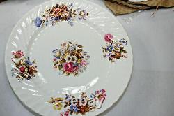 Aynsley Summertime Dinner Plates 4 x 5 settings Bone China Made in England NEW