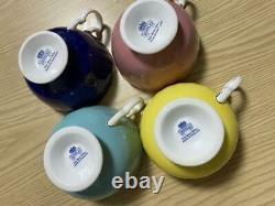 Aynsley teacup & saucer 4 cup set tableware bone china England