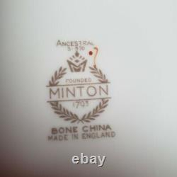 BEAUTIFUL 79 Piece MINTON BONE CHINA ANCESTRAL ENGLAND 12 Place Settings