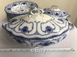 Beaufort Grindley Antique Blue Dinner Dinnerware Set English China England