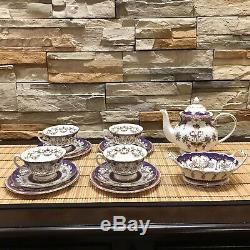 Beautiful And Rare The Royal Collection Fine Bone China Queen Victoria Tea Set