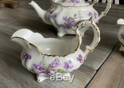 Beautiful Hammersley England Victorian Violets Pattern Fine Bone China Tea Set