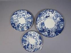 Blue Mikado Royal Crown Derby Dinner Set for 8 Plates Bone china England