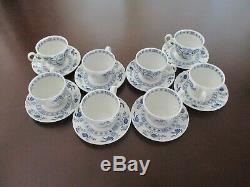 Blue Nordic Onion China Set-Made In England (40 pieces)