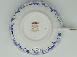 Box Set of Spode England Bone China Y6235 Colonel Blue Gold Trim Tea Coffee Cup