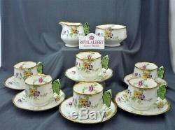 C1930s 14 Piece Royal Albert England Crown China Tea Set c/w Butterfly Handles