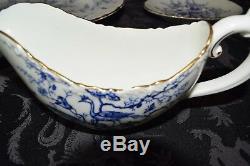 COALPORT BLUE CAIRO #9252 (1940's) 45 PIECE CHINA SET Made in England GILT