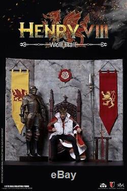 COOMODEL EMPIRES KING of England HENRY VIII WOLF HALL VERSION DISPLAY SET 1/6