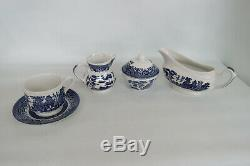 Churchill Blue Willow English Tableware 105 Piece Set of Serving Dishes 1573B