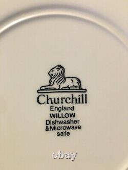 Churchill England Blue Willow China Set