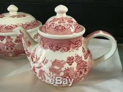 Churchill England Willow Rosa China Set 28 Pieces New Perfect
