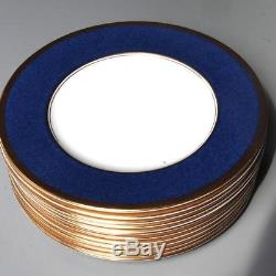 Coalport Athlone Blue, Set Of 12 Salad Plates, Bone China, Made In England