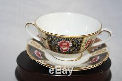 Coalport Bone China England Java Set Of (3) Cream Soup Cups And Saucers