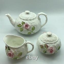 Coalport Bone China England Tea Set/ Teapot, Sugar Bowl, Creamer