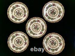 Coalport England Ming Rose Bone China Set of 10 Teacups & Saucers Discontinued