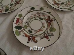 Coalport Hunting Scene set of 40 pieces Fine Bone China, Made in England