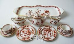 Coalport MINI/MINIATURE TEA SET 12 pc set Indian Tree Coral Bone China England