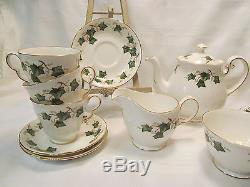 Colclough England Fine Bone China 14 Piece IVY LEAF Tea Set REDUCED