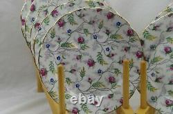 Copelands Grosvenor China England Flowers Sprays Set 13 Salad Plates 7 7/8