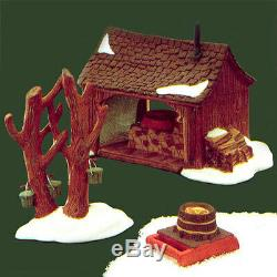 Dept 56 New England Village MAPLE SUGARING SHED 3 pc Set #65897 RETIRED