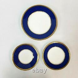 Dish Set 14 England Coalport Athlone Blue Bone China Plates Dinnerware
