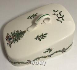 Disney Spode Christmas Tree 7 Cheese Wedge Set Porcelain China 2003 England