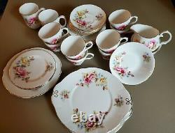 Duchess China with YellowithPink Flowers Tea Set (32 pieces) great condition