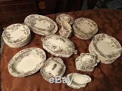English China Plates 43 pc Windsor C&H Tunstall England set
