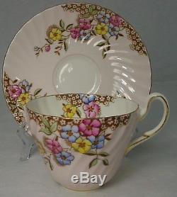 FOLEY England china 3112 FLOWERS pattern 20-piece TEA DESSERT SET