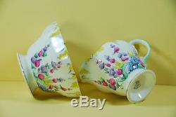Foley England 21 Piece Bone China Tea Set Hollyhocks