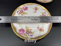 Foley Golden Pink Rose 2726 Tea Set for 4 Creamer Sugar Set Bone China England