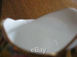 GARLAND tea set cake plate TUSCAN ENGLAND Bone China GOLD roses floral gift old