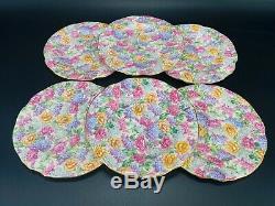Hammersley 4131 Chintz Floral 6.25 Dessert Plates Set of 6 Bone China England