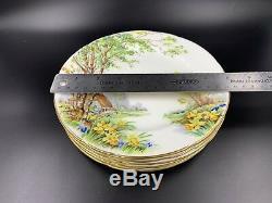 Hammersley Lorna Doone Salad Luncheon Plates Set of 6 Bone China England 8