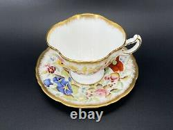 Hammersley Queen Anne Tea Cup Saucer Set Bone China England