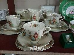 J&g Meakin England Prince Charlie Reg 561073 Sunshine Tea Set 4 Trios Cake Plate