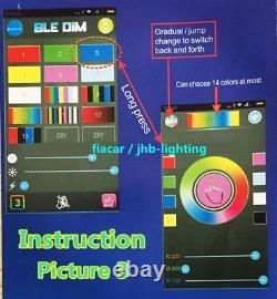 Jhb-lighting 15.5 RGB Color Bluetooth LED Wheel Lights 4PCS Kit send to England