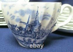 Johnson Bros. England TULIP TIME Blue/White China Dinnerware 43 Piece Set