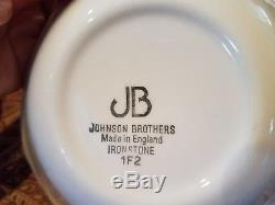 Johnson Brothers China Ironstone White Regency Settings for 6 Made in ENGLAND