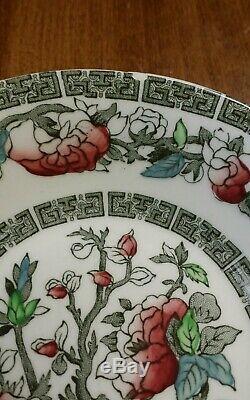 Johnson Brothers Indian Tree China Cream Green Key England Dinner Plate Bowl Set
