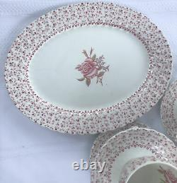 Johson Bros Rose Bouquet 44 Pieces Fine China Set Made in England