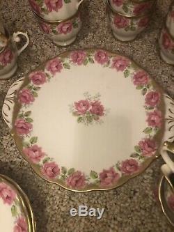 Lady Alexander Rose Bell Bone China England Tea Set -Cake Plate Cup Saucer Set